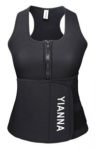 YIANNA Neoprene Sauna Suit Tank Top Vest with Adjustable Shaper Waist Trainer Belt Review