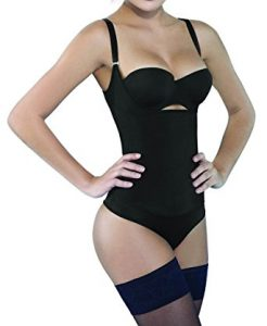 Camellias Women's Seamless Firm Control Shapewear Open Bust Bodysuit Body Shaper Black Review